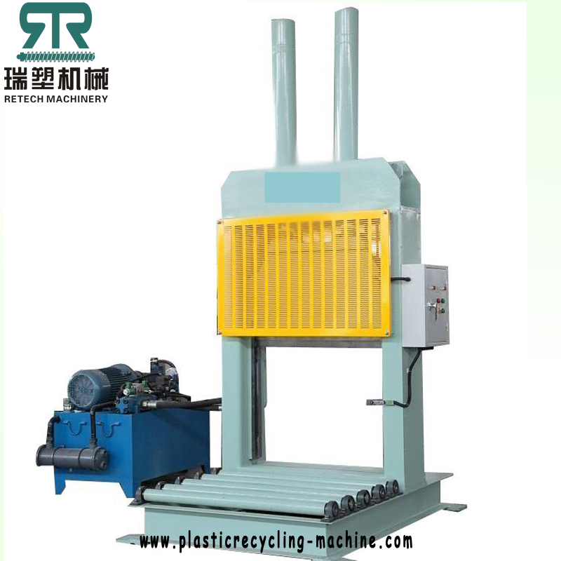 Plastic baled roll PE LDPE film/rubber hydraulic guillotine cutter machine
