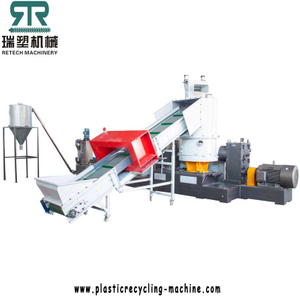 Plastic LDPE/HDPE/LLDPE film recycling and pelletizing machine with compactor