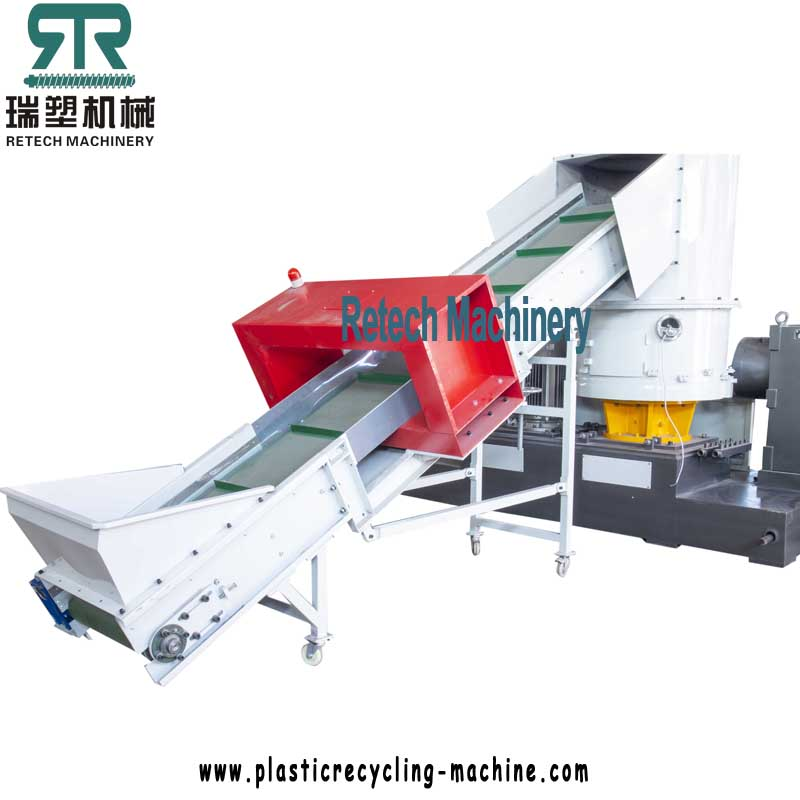 Feeding compactor machine