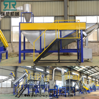 Plastic PP PE PS ABS PET PVC Crushing Washing Sorting Separation Line