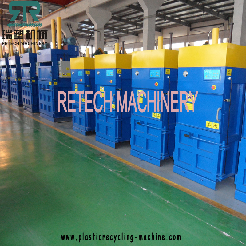 Full Automatic Waste Plastic PET Bottle LDPE Agriculture Film LLDPE Packaging Film Large-Scale Two Side Door Feeding Type Compression Baler
