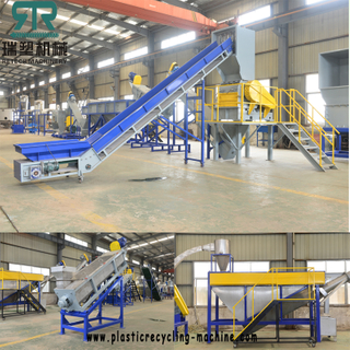 LLDPE flexible packaging film LDPE greenhouse covering film crushing washing recycling granulating pelletizing line