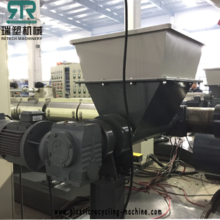 Side Force Feeder PP PE Film Rigid Flakes Two Stage Water Ring Granulator Pelletizing Line With Powerful Degassing System