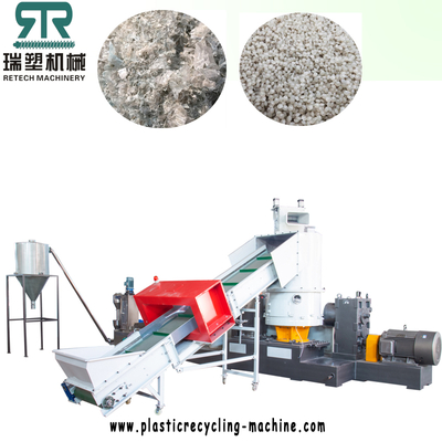 PP Woven Bags/Raffia/Fiber/Fabric Shredding Compactor Double Stage Pelletizing Line