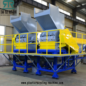 Plastic PP PE film crusher/PET HDPE bottle crushing machine