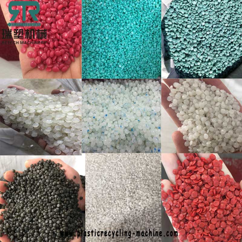 PP PE laminated composite multilayer film recycling pelletizing granulating line