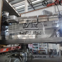 Plastic HDPE PP calcium rigid material pelletizing recycling line exporte to Bangladesh customer